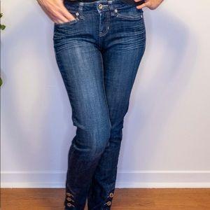 Cache blue jeans embellished
